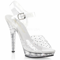 Pleaser Lip-108RS Platform Ankle Strap Sandal