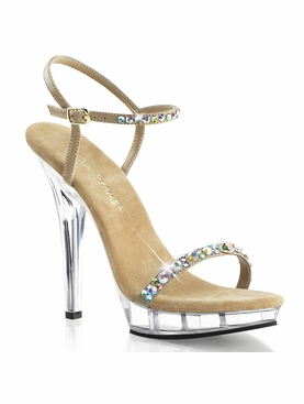 Pleaser Lip-131 Jeweled Ankle Strap Sandal