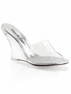 Pleaser Lovely-401 Heel Wedge Slide Sandal