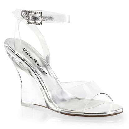 Pleaser Lovely-406 Wrap Around Wedge Sandal