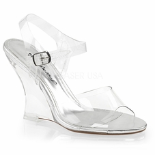 Pleaser Lovely-408 Ankle Strap Wedge Sandal