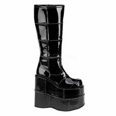 Pleaser Men's Stack-301 Goth Cyber Gogo Punk Knee Boots