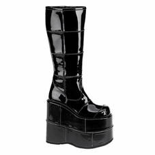 Pleaser Men's Stack-301 Goth Cyber Knee Boot