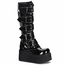 Pleaser Men's Trashville-518 Goth Punk Knee Boot