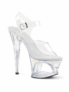 Pleaser Moon-708MG Ankle Strap Sandal