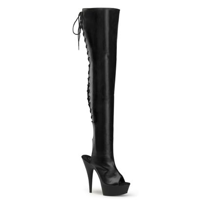 Pleaser Delight-3017 Platform Sexy Thigh High Boots