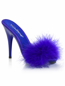 Pleaser Poise-501F Marabou Slide