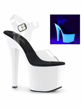 Pleaser Radiant-708UV Ankle Strap Sandal
