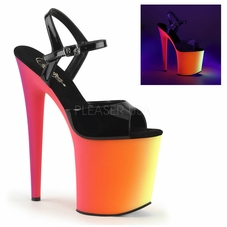 Pleaser Rainbow-809UV Exotic Dancer UV Platform Sandal