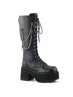 Pleaser Ranger-303 Men's Lace-Up Front Knee High Boot