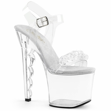 Pleaser Scallop-712 Ankle Strap Sandal