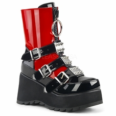 Pleaser Scene-51 Studded Buckle Strap Mid-Calf Boots