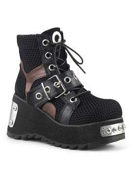 Pleaser Scene-53 Lace Up Ankle Boot