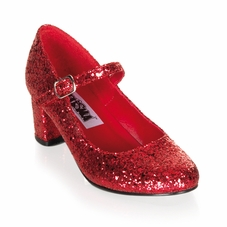 Pleaser Schoolgirl-50G Glitter Mary Jane Shoe