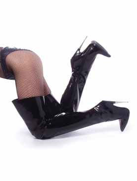 Pleaser Scream-3010 Spike Heel Thigh High Stripper Boot
