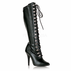 Pleaser Seduce-2024 Lace Up Knee High Boots