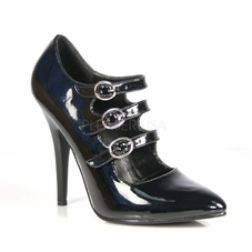 Pleaser Seduce-453 Tri-Strap Mary Jane Style Pump