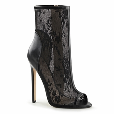 Pleaser Sexy-1008 Lacy Ankle Bootie