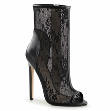 Pleaser Sexy-1008  Open Toe Lacy Ankle Bootie