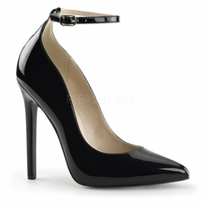 Pleaser Sexy-23  Ankle Strap Pointed Toe Pump