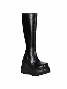 Pleaser Shaker-100 Stacked Wedge Boot
