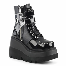 Pleaser Shaker-57 Lace Up Platform Boot