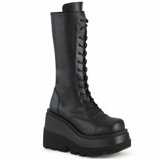Pleaser Shaker-72 Wedge Mid-Calf Boot