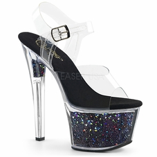 Pleaser Sky-308GF Holographic Ankle Strap Sandal