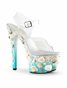Pleaser Sky-308Mermd Seashell Platform Shoe