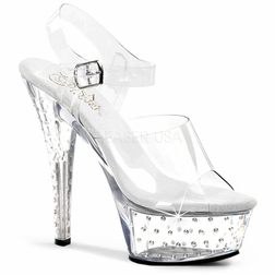 Pleaser Stardust-608 Ankle Strap Dancer Shoe