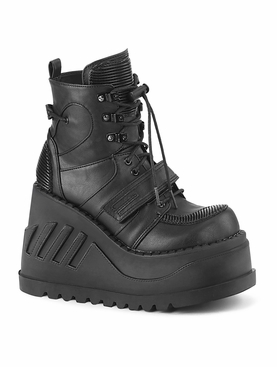 Demonia Stomp-13 Lace-Up Front Ankle Boot