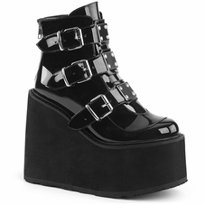 Pleaser Swing-105 Wedge Platform Ankle Boot