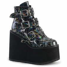 Pleaser Swing-105LBH Multi Buckle Strap Ankle Boots