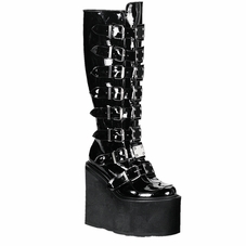 Pleaser Swing-815 Wedge Platform Knee Boot