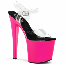 Pleaser Taboo-708UV Ankle Strap UV Reactive Stripper Heels