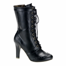 Pleaser Tesla-102 Steampunk 10 Gear Eyelet Calf Boot