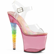 Pleaser Unicorn-708T Tinted Ankle Strap Sandal