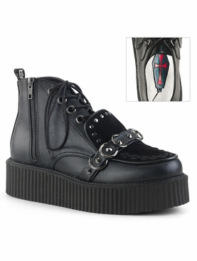 Pleaser V-Creeper-555 Men's Oxford Lace-Up High-Top Creeper
