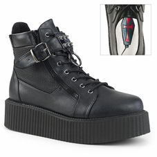 Pleaser V-Creeper-566 Men's Lace-Up Oxford Creeper Bootie