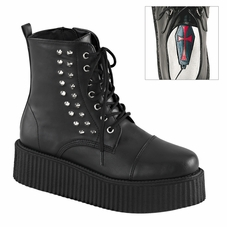 Pleaser V-Creeper-573 Men's Lace-Up Creeper Ankle Boot