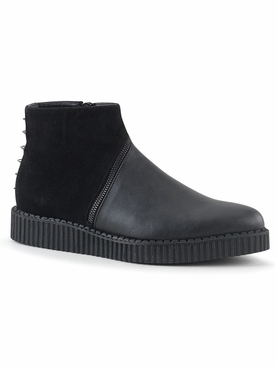 Pleaser V-Creeper-750 Men's Pointed Toe Ankle Boot Creeper