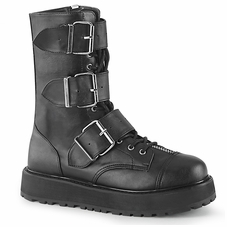 Pleaser Valor-210 Men's Lace-Up Front Mid-Calf Boot