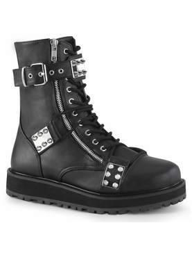 Pleaser Valor-280 Men's Lace-Up Front Ankle Boot