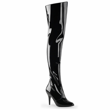 Pleaser Vanity-3010 Thigh Boot with Elasticated Gusset