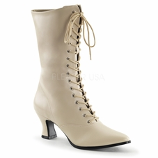 Pleaser Victorian-120 Front Lace Up  Mid Calf Boot