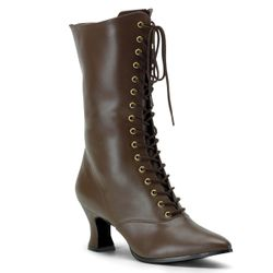 Pleaser Victorian-120 Front Lace Calf Boot