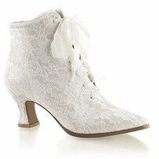 Pleaser Victorian-30 Lace Up Ankle Bootie