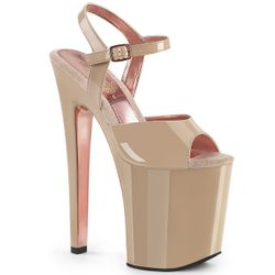 Pleaser Xtreme-809TT Two Tone Ankle Strap Sandal