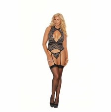Plus Elegant Moments 3991X Mesh Camisette & G-String