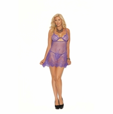 Plus Elegant Moments 44002X  Babydoll With Keyhole Front